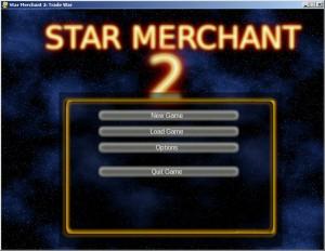 Star Merchant 2's Working Main Menu (click to enlarge)